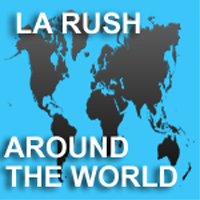 "LA Rush ""Around the world"" Album cover"
